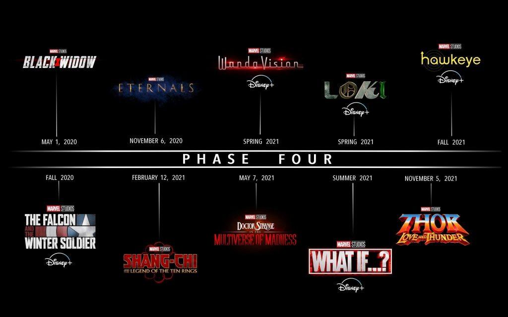Calendário séries marvel 2021
