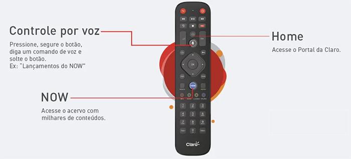 Controle Claro TV Box