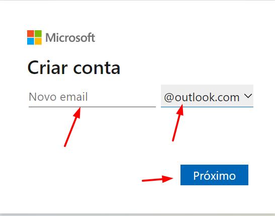 criar conta Hotmail - Hotmail Entrar 2