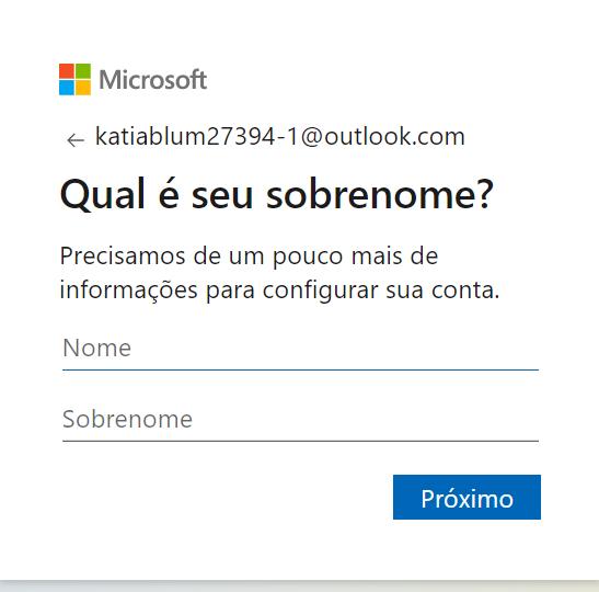 criar conta Hotmail - Hotmail Entrar 3