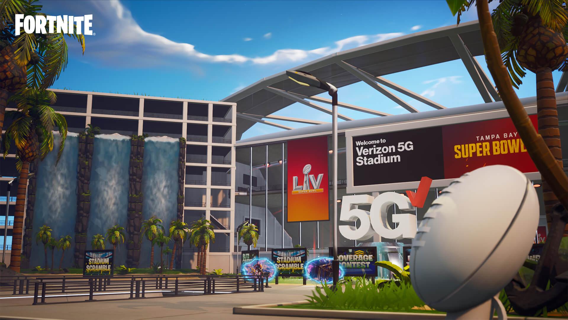 Estádio no Modo Criativo de Fortnite