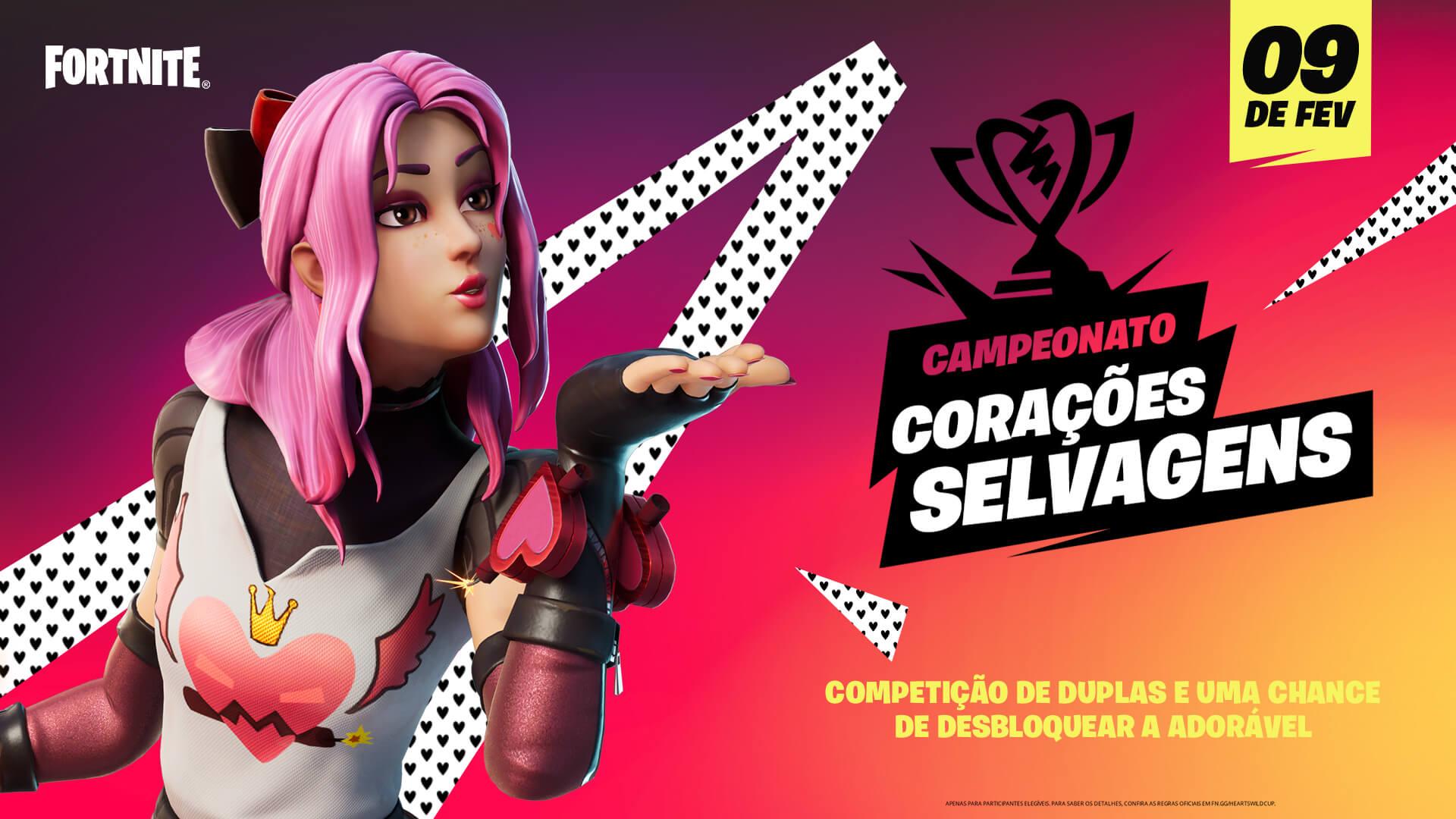 Campeonato Corações Selvagens no Fortnite