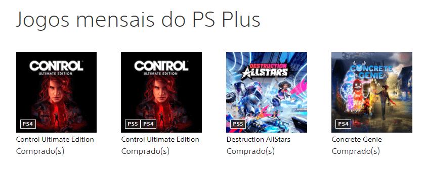 Jogos PS Plus fevereiro 2021
