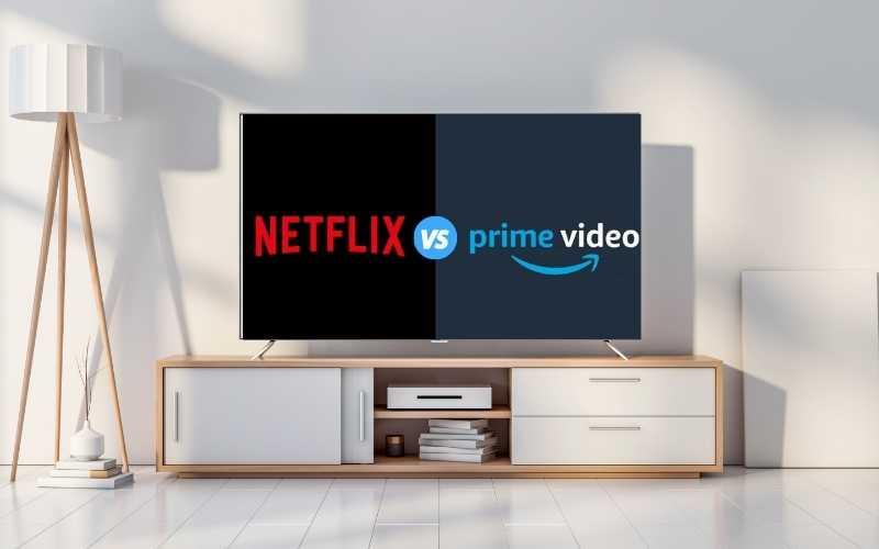 Netflix Vs Amazon Prime Vídeo comparação