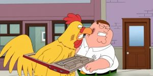 Peter vs Chicken, cena de Family Guys