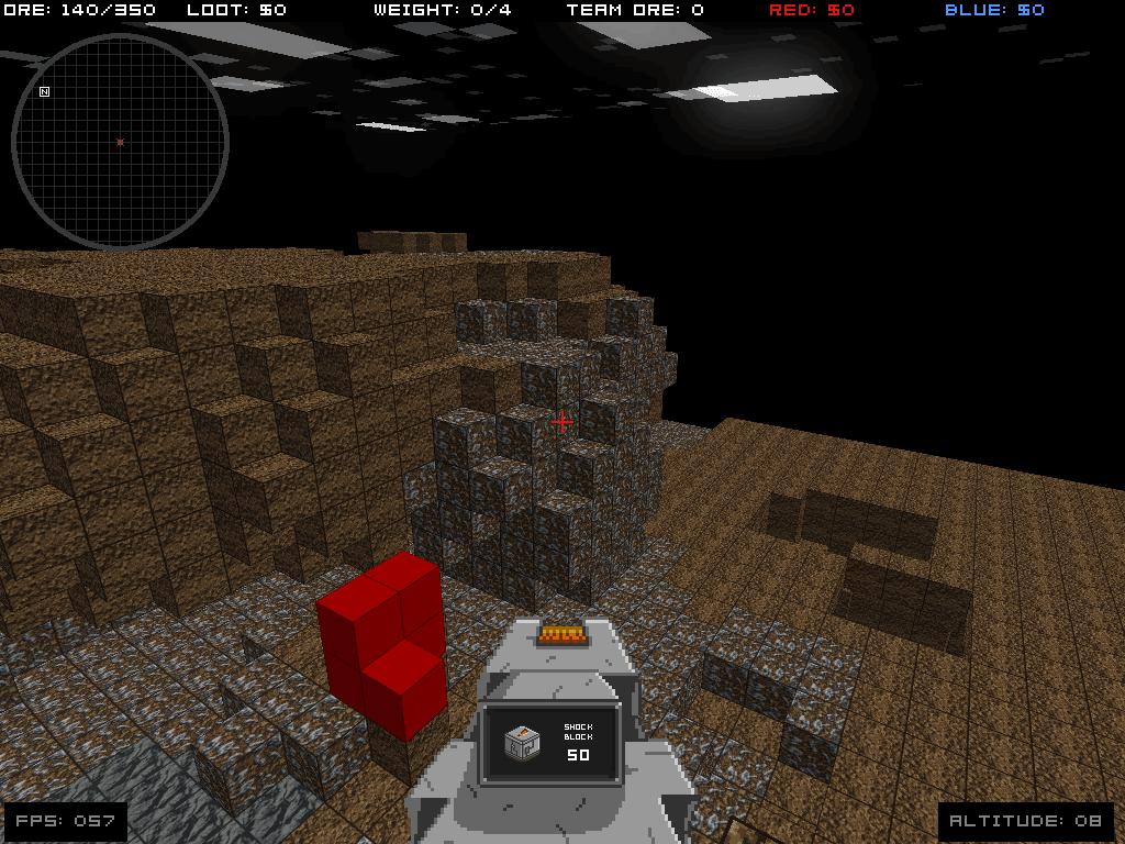 Infiniminer, jogo em que Notch se inspirou para criar Minecraft