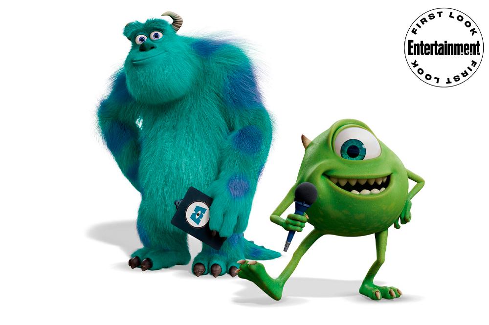 Mike e Sully em Monstros ao Trabalho