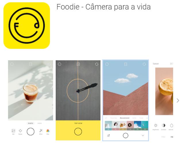 editores de fotos para Android 2021 -Foodie