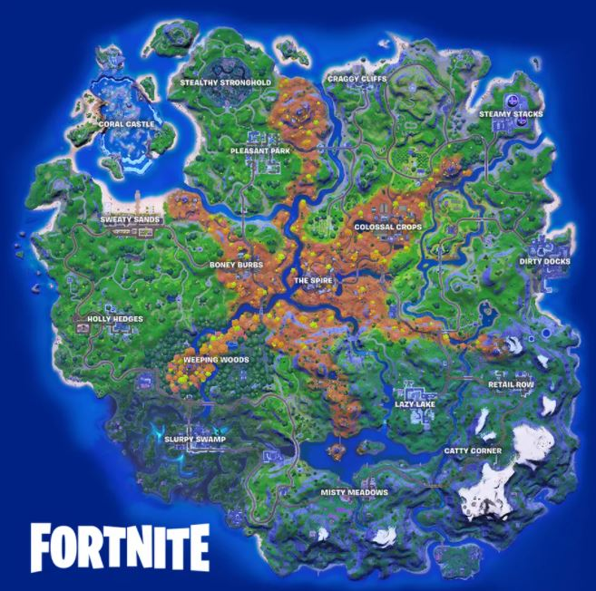 Fortnite   Mapa do capítulo 2, Temporada 6