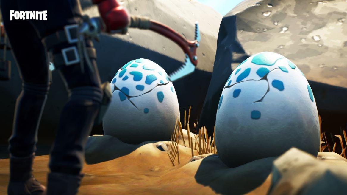 Ovos de dinossauro no Fortnite