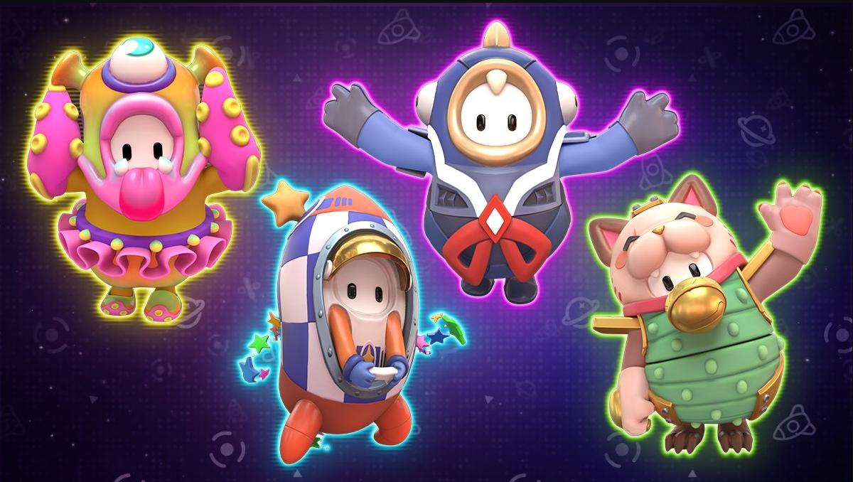 Quatro novas skins de Fall Guys