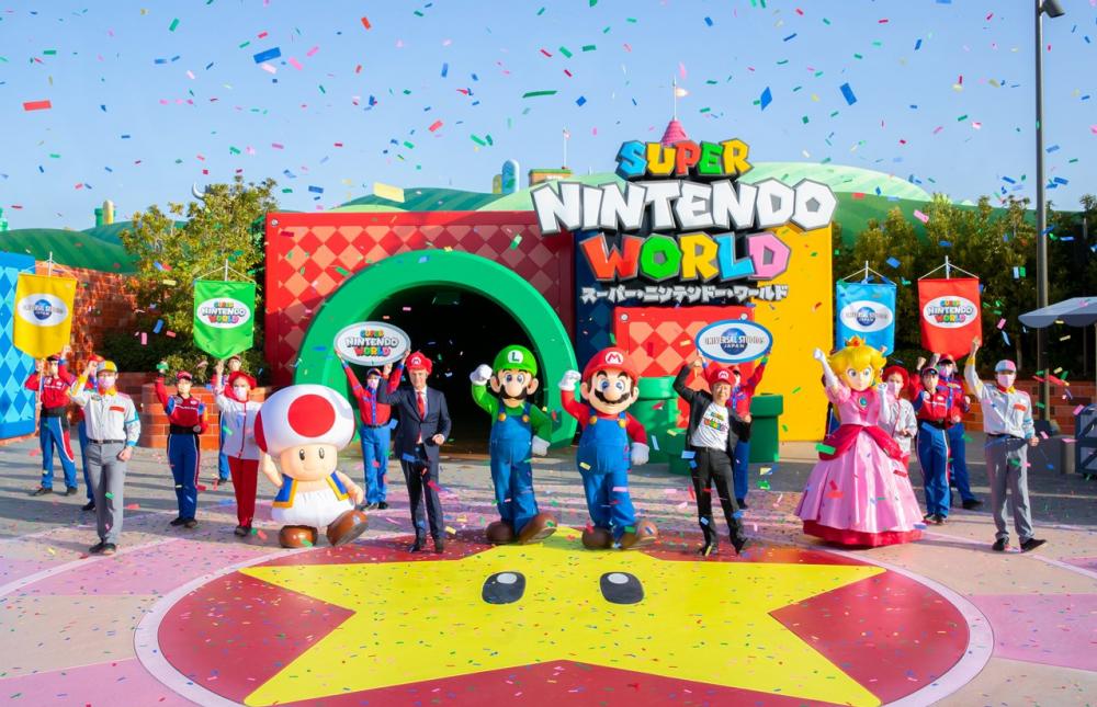 cerimônia de abertura Super Nintendo World