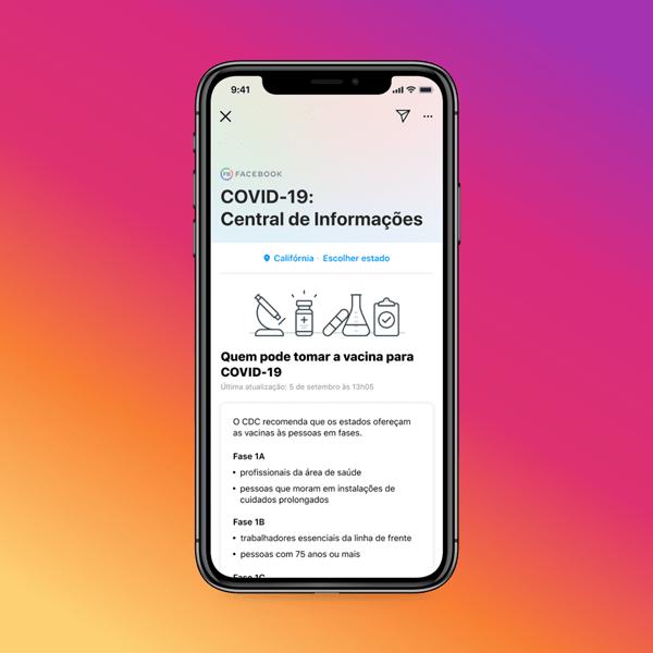 Central de Informações sobre COVID-19 do Instagram