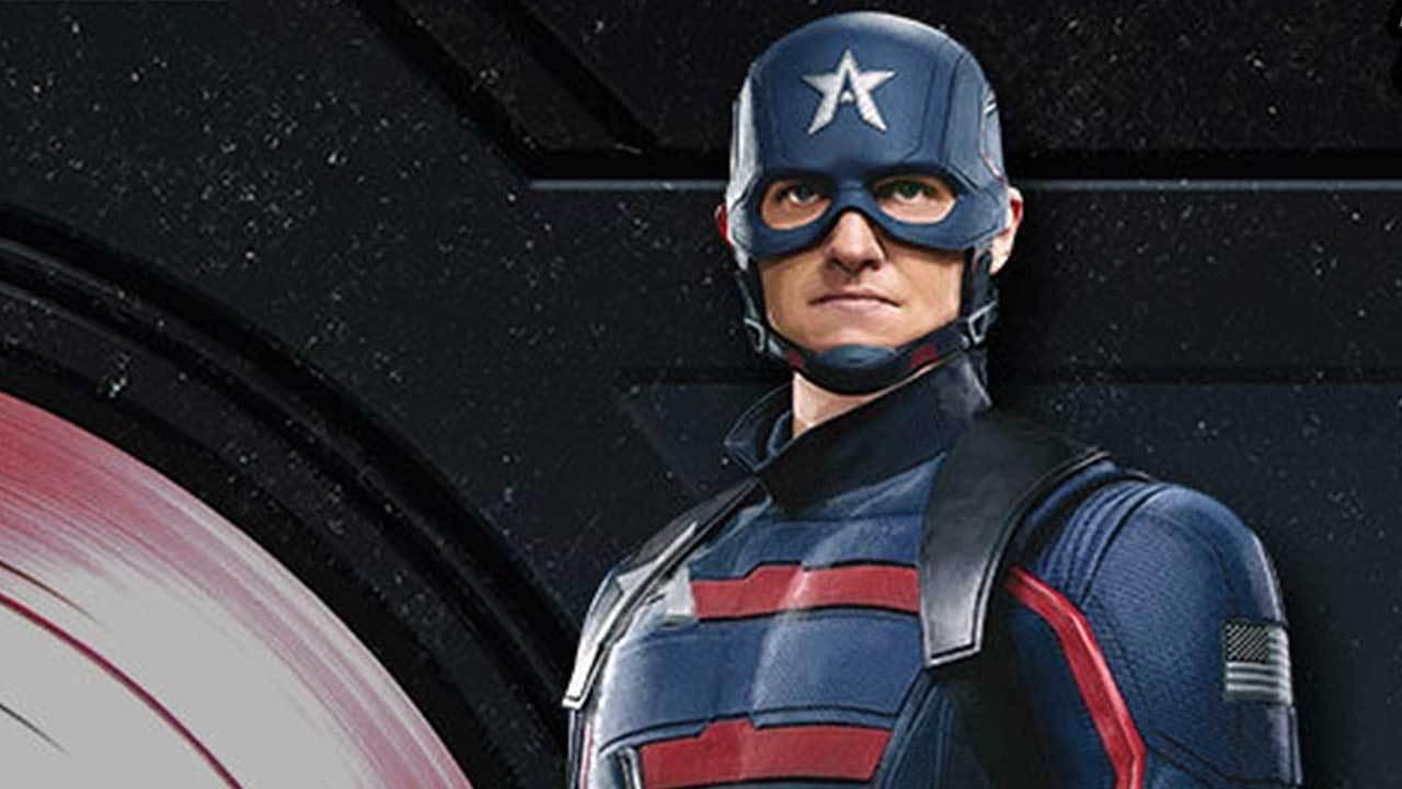 John Walker como Capitão América em Falcão e o Soldado Invernal