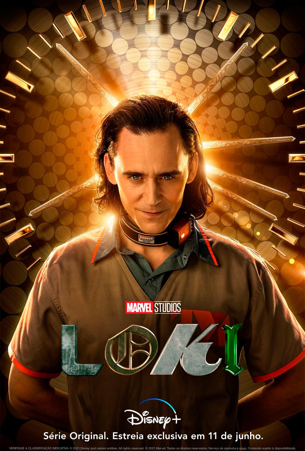 Loki, o deus da trapaça, está preso em primeiro poster oficial