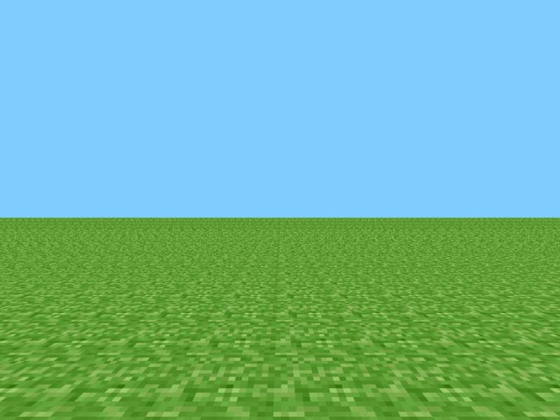 A primeira versão de Minecraft
