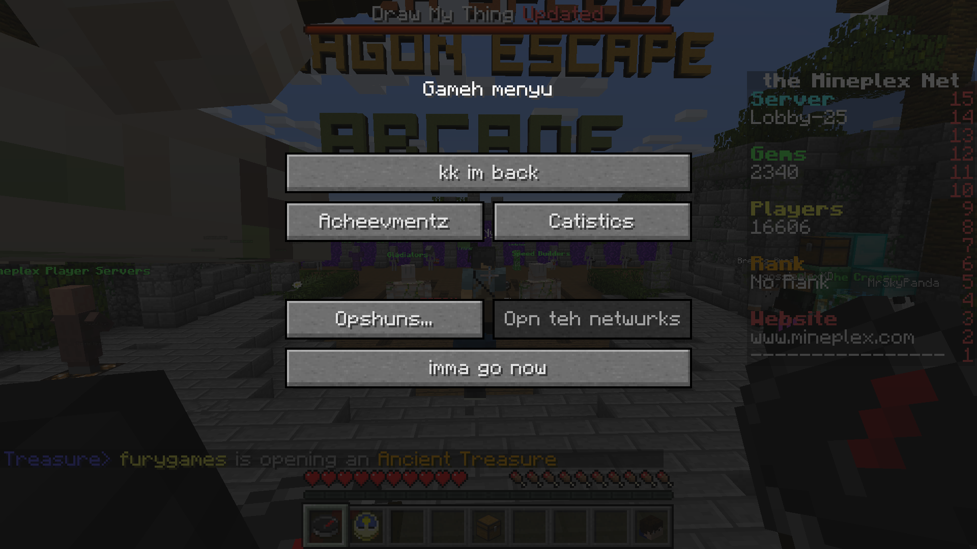 Língua Lolcat no Minecraft
