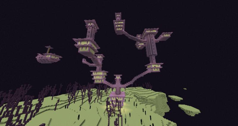 Minecraft - Cidades no The End