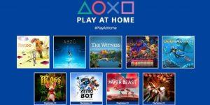 Play at Home vai dar 10 jogos grátis aos jogadores de PS4 e PS5