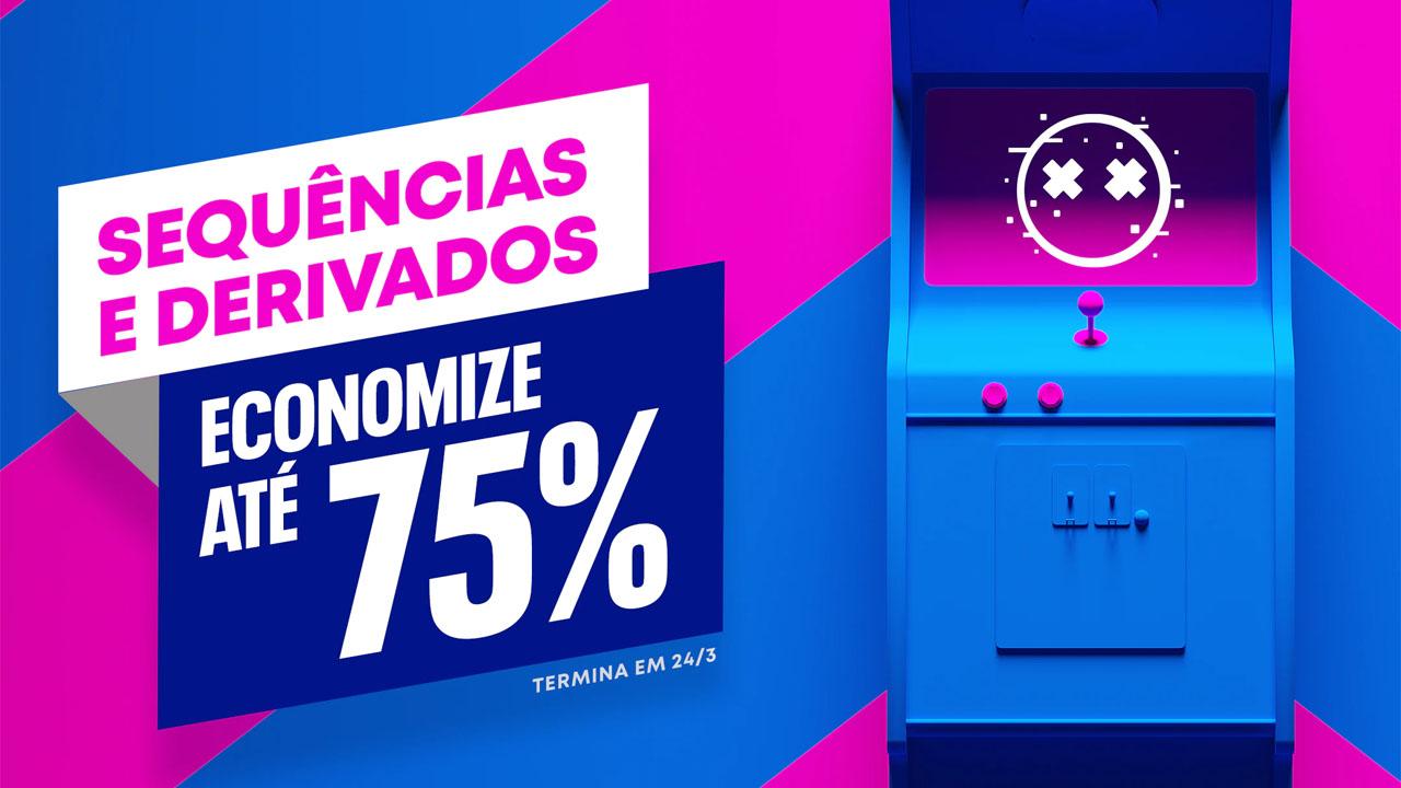 Anúncio da promoção Sequencias e Derivados da PlayStation Store