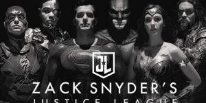 Imagem de divulgação do Snyder Cut mostrando os heróis do filme