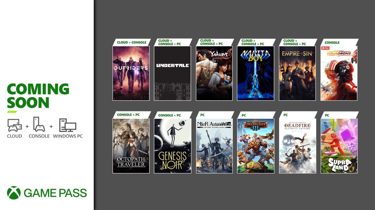 Xbox Game Pass: 12 jogos chegam ao serviço até 01 de abril