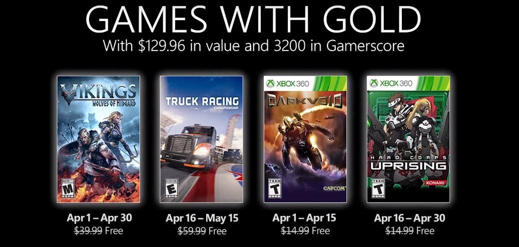 Xbox Games with Gold de abril de 2021