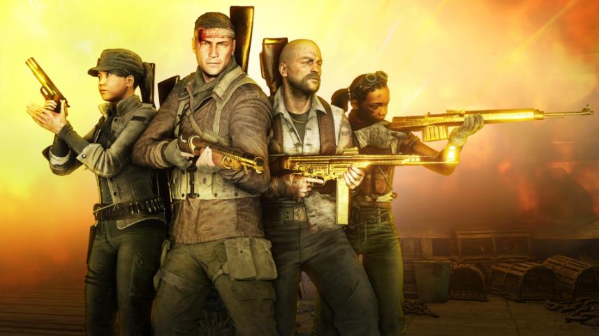 imagem com quatro jogadores no jogo zombie army 4