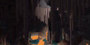 Novas cavernas da atualização Caves & Cliffs do Mincraft