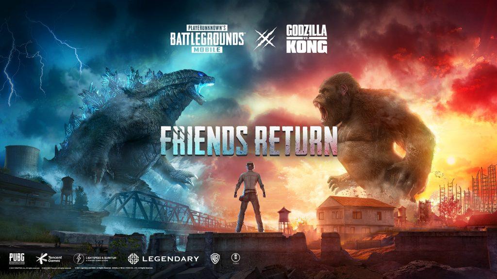 PUBG Mobile tem evento de Godzilla vs. Kong