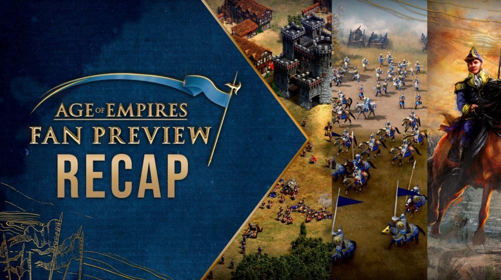 Evento fan preview para age of empires 4