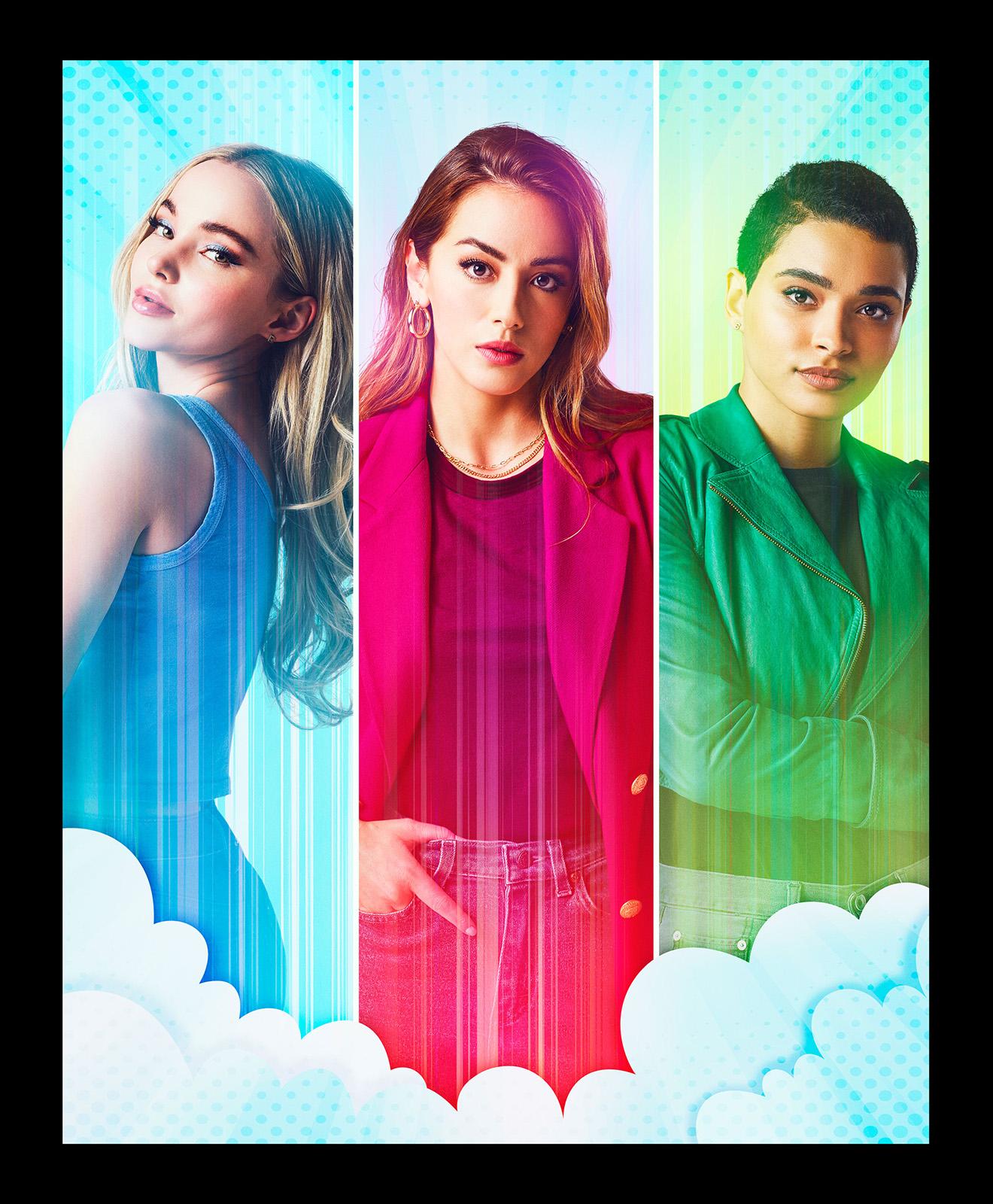 Imagem oficial da série live-action de As Meninas Super Poderosas