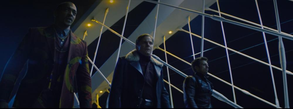Sam, Zemo e Bucky em Madripoor