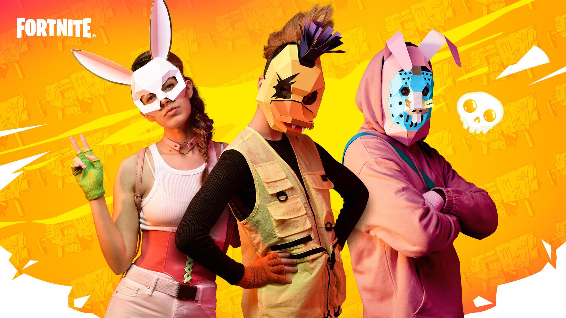 fortnite fornece modelo de máscaras para fazer em casa