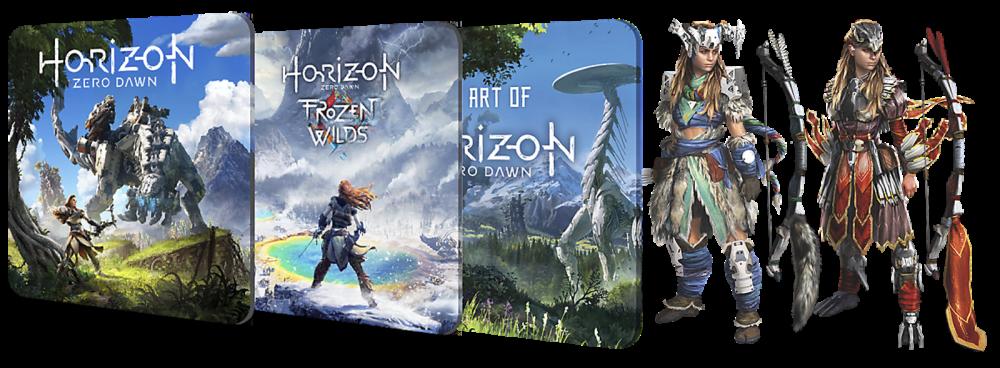Horizon Zero Dawn: Complete Edition traz expansão, livro digital, tema e itens bônus