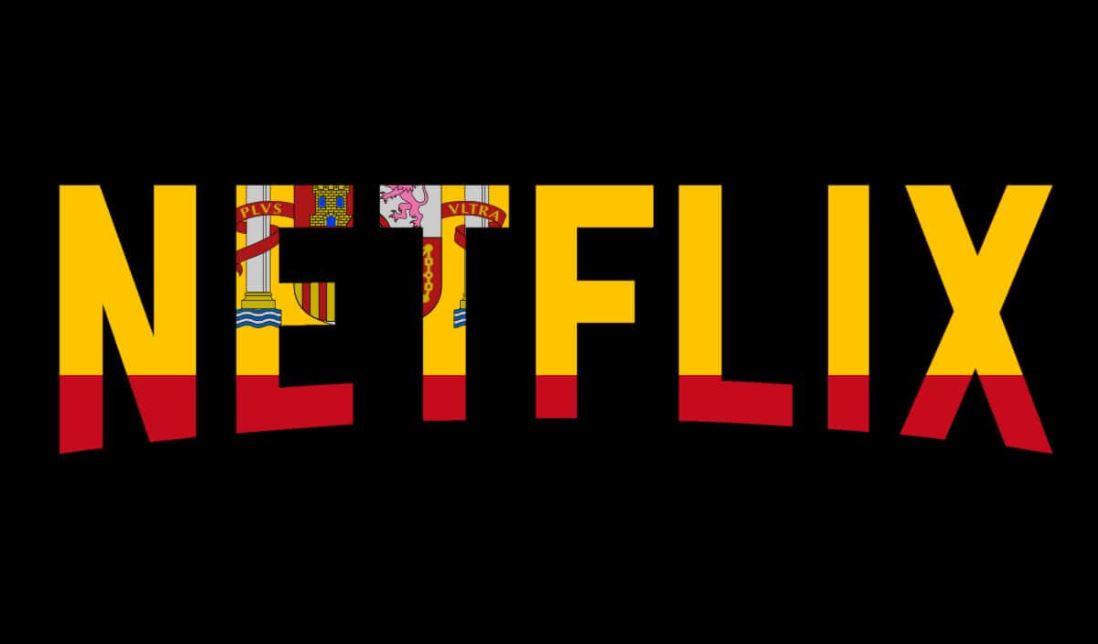 Logo da Netflix com a bandeira da Espanha