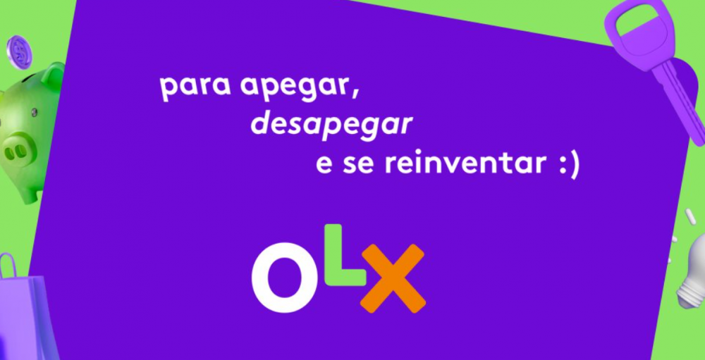 "banner olx ""para apegar, desapegar e se reinventar"""