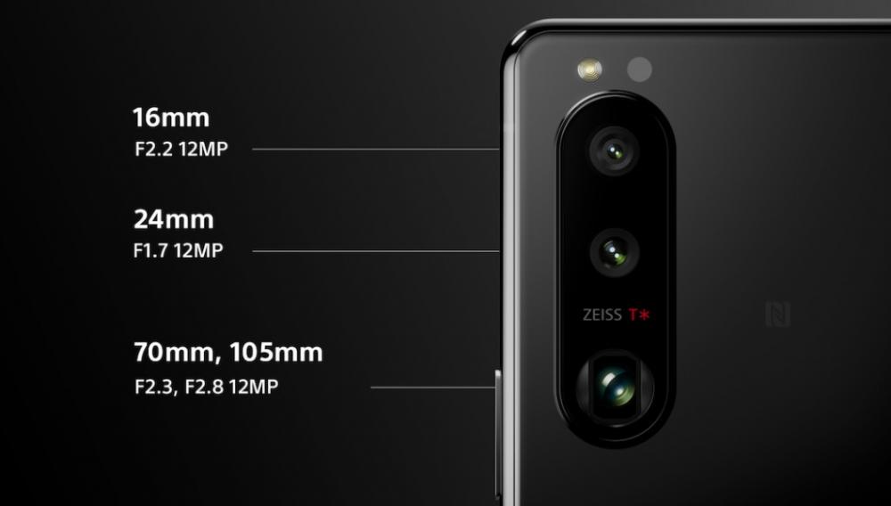 especificações das três cameras traseiras do sony xperia