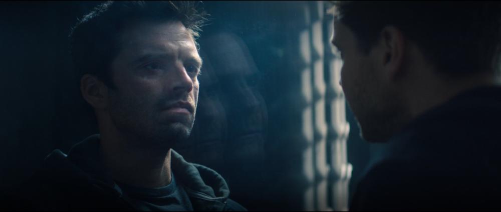 Bucky e Zemo na prisão