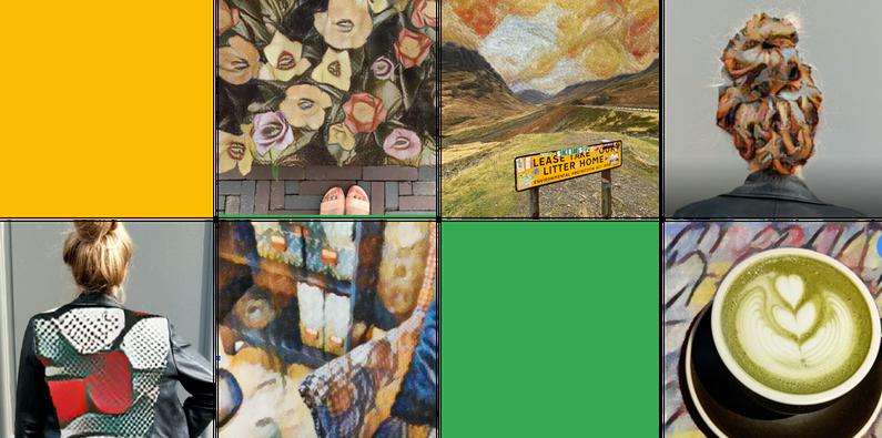 várias fotos diferentes com filtros de arte aplicados