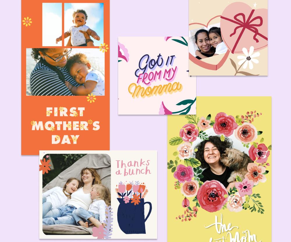montagem de fotos com tema de dia das mães