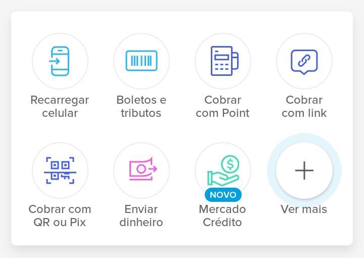 Alguns dos recursos do aplicativo do Mercado Pago (Captura: Alexandre Garcia Peres/Tech News Brasil)