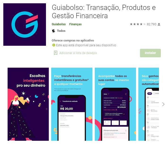 Página do Guiabolso na Google Play (Imagem: Divulgação/Guiabolso)