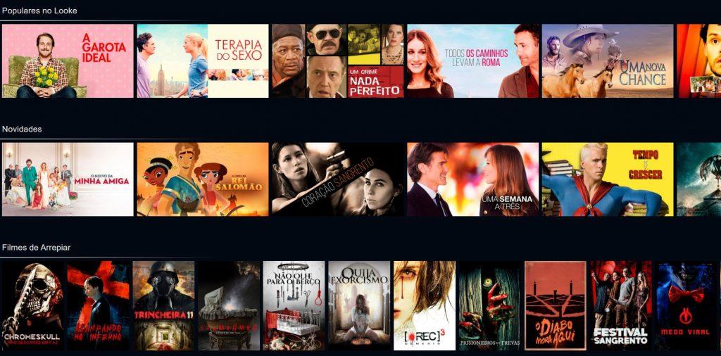 Alguns dos filmes disponíveis no catálogo do Looke (Imagem: Divulgação/Looke)