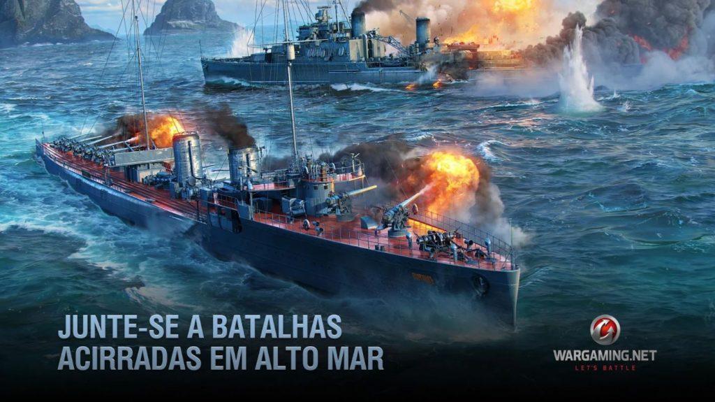 Imagem de divulgação do game World of Warships Blitz (Imagem: Divulgação/Wargaming Group)