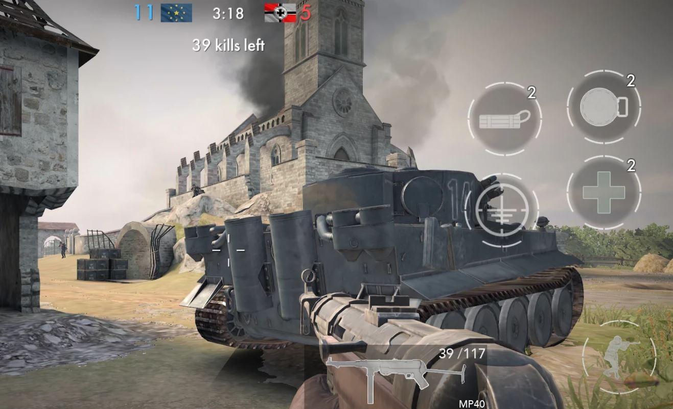 Imagem de divulgação do game World War heroes: Guerra FPS (Imagem: Divulgação/Azur Interactive Games Limited)