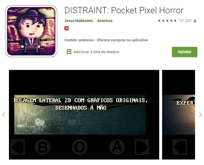 Págian do Distraint no Google Play (Imagem: Divulgação/Jesse Makkonen)