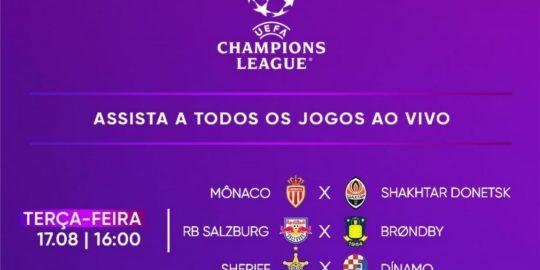 HBO Max vai transmitir jogos da Liga dos Campeões nesta terça-feira (Imagem: Divulgação/HBO Max)