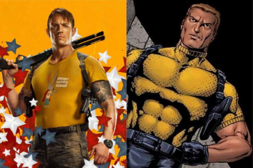 À esquerda, Joel Kinnaman como Rick Flagg; à direita, o personagem nos quadrinhos (Imagem: Reprodução/Warner Bros.   DC)
