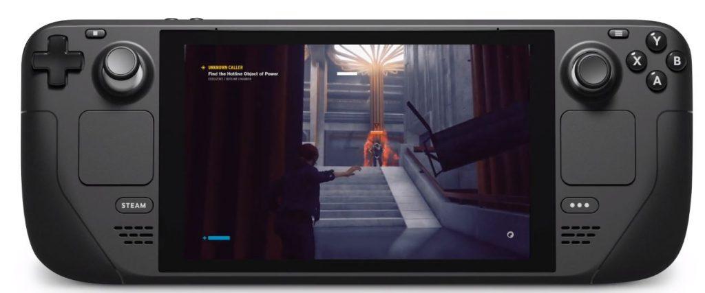 O Steam Deck rodando o game Control (Imagem: Divulgação/Valve)